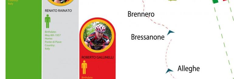 Venezia-Monaco di Baviera in mountain bike: sabato inizia l'avventura di Roberto, Renato e Walter!