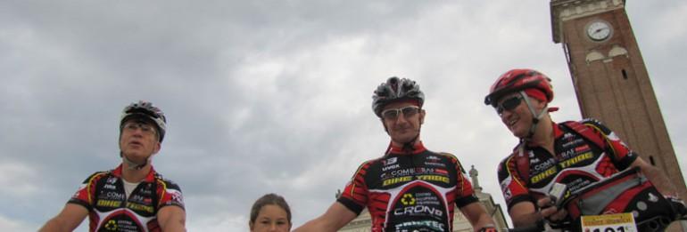 Venezia-Monaco in mountain bike: Roberto, Renato e Walter sono partiti!