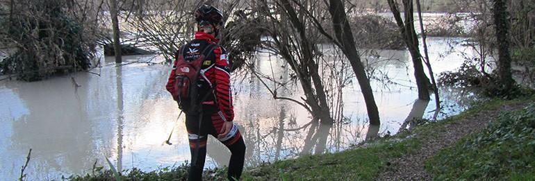 Esondazione del Piave: il Bike Tribe Mtb Trail è inagibile.