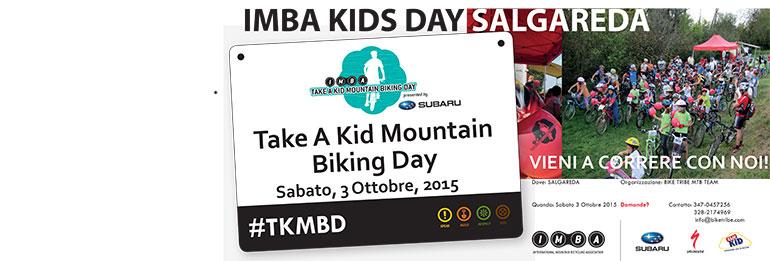 IMBA KIDS DAY: APPUNTAMENTO A SALGAREDA SABATO 3 OTTOBRE!