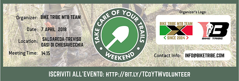 Sabato 7 Aprile sul Piave al Take Care Of  Your Trails Weekend!